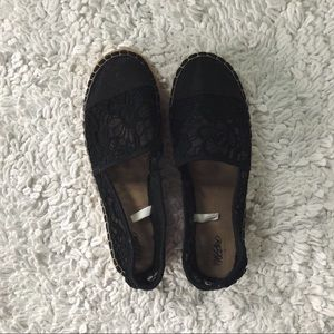 Black Lace Espadrilles Barely Worn!!!